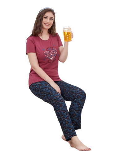 100 Comfort wear for women Tee and Pajamas/ Pant Combo 100% Cotton