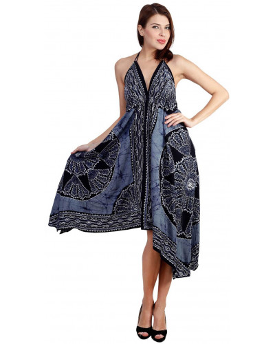 Pack of 05 Halter Neck Maxi Dress with Embroidery Work