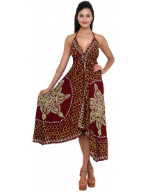 Pack of 50 Halter Neck Maxi Dress with Embroidery Work