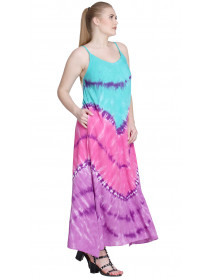 Pack of 05 Tie dye Women Beach Long Dresses