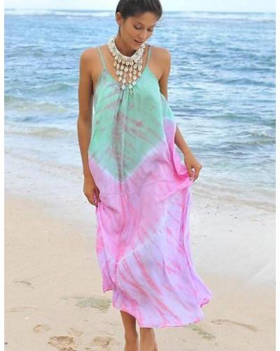 Pack of 05 Tie dye Women Beach Long Dresses
