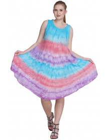 Umbrella Tie Dye Sleeveless Maxi Dresses 10 Pcs Lot