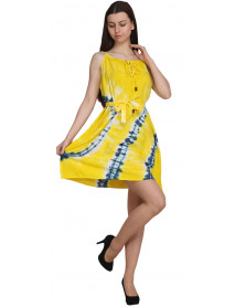 10 Rayon Short Tie dye dress for Women