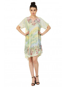 05 Summer Mini Colorful Dress with Short Sleeve