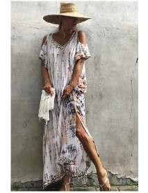 05 Pcs Sea Beach Coverup Maxi Dress