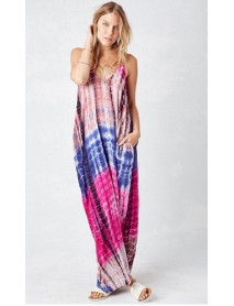 05 Pcs V-Neck Shoulder Multi color Maxi Dress