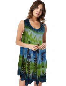 10 Umbrella Tie Dye Baby Doll Maxi  Dress