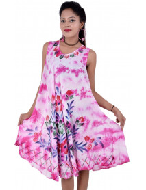 Hungarian Style Summer Dress for Women 5 pc - PINK ONLY