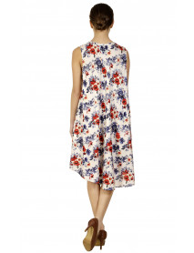 White Midi Floral Beach Dress