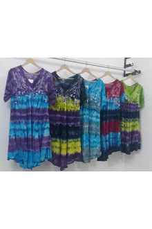 100 Pcs Pack of Casual Loose Mid Length Dress