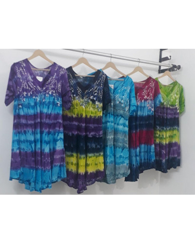 10 Pcs Pack of Casual Loose Mid Length Dress