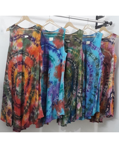 10 Casual Tie Dyed Color Women's Maxi Dress