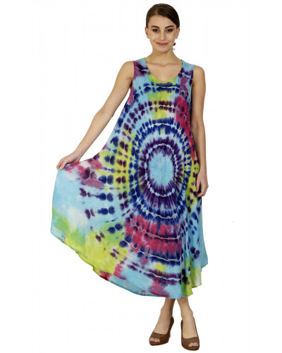 Pack of 10 Casual Tie Dyed Color Women's Maxi Dress