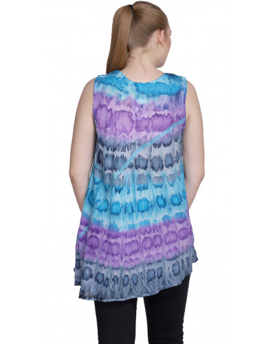 Wholesale Lot of 10 Ladies Multicolor Evening Sleeveless Tops
