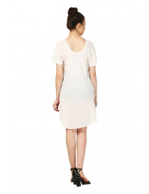 10 White Peasant Top / Mini Dress