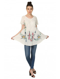 10 Ladies Wholesale Clothing Umbrella Tops with Colour Flowers