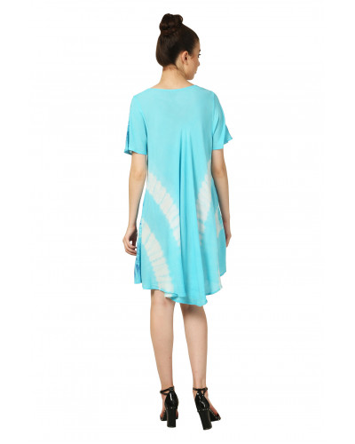 05  Women's Short Sleeve Loose Swing Casual Dress