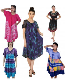 50 Mix Design Wholesale Summer Maxi Dresses For Ladies with Sleeves