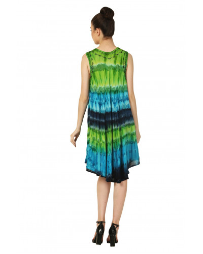 Wholesale 100 Summer Retro Party Tie Dye Dresses