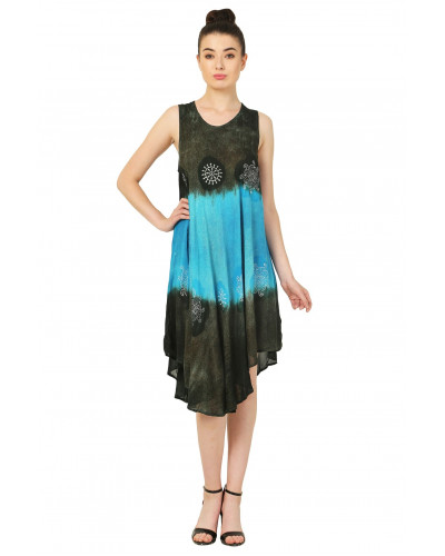 10 Ombre A-Line Sleeveless Dress Clearence