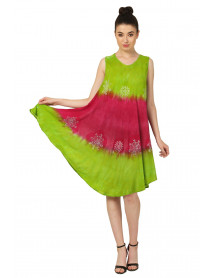 100 Ombre A-Line Sleeveless Dress Clearence