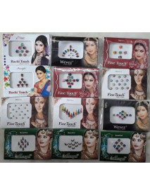 108 Multi Color Assorted Bollywood Bindi/Tattoo Clearence