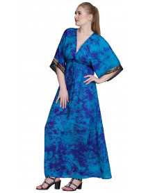 05 Wholesale Ladies Silk Lounge wear Long Caftan