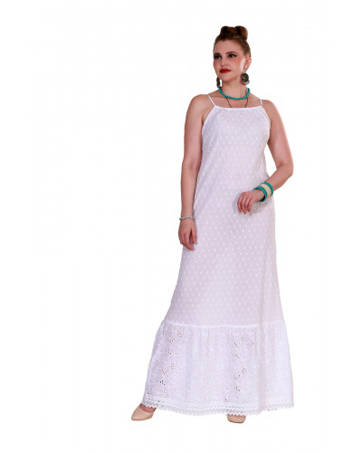 White Backless Honeymoon Dress in Maldives - Pack of 05