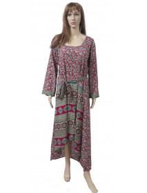 05 Pcs Casual Print Maxi Dresses for Ladies