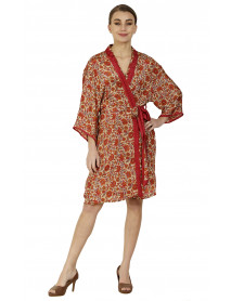Pack of 5 Ladies Short Coverup Gown Dress Kimono (Robe Dress)