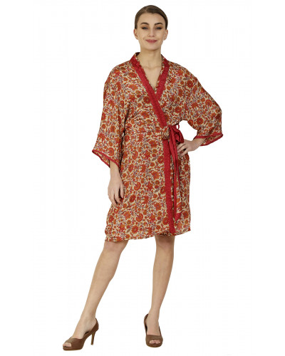 Pack of 05 Ladies Short Coverup Gown Dress Kimono (Robe Dress)