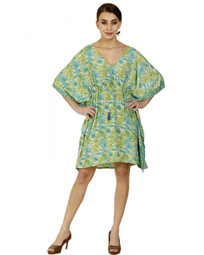 05 Summer Beach Printed Poncho Coverups
