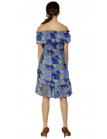 05 Cute Print Design Summer Off Shoulder Dresses without Frills