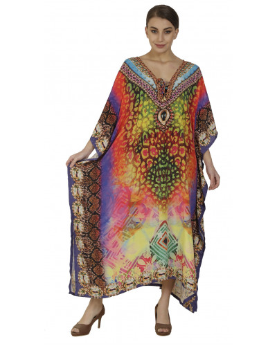 Pack of 100 Womens Long African Kimono Printed Caftans