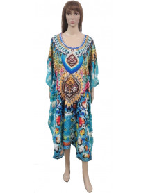 Pack of 13 Womens Long African Kimono Printed Caftans