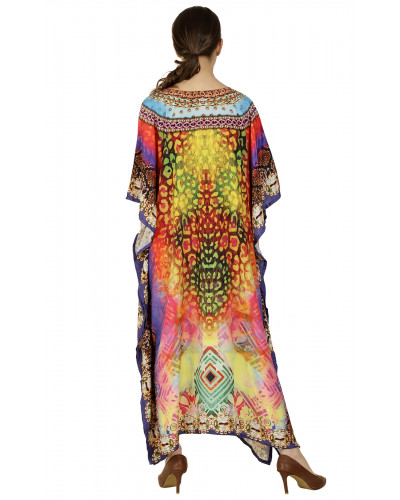 Pack of 05 Womens Long African Kimono Printed Caftans