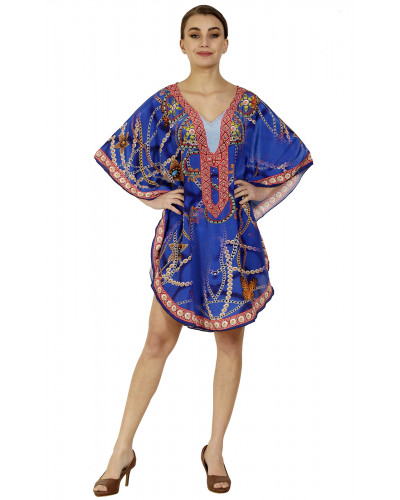 Lot of 05 Summer Beach Coverup Dress Stylish Kaftan