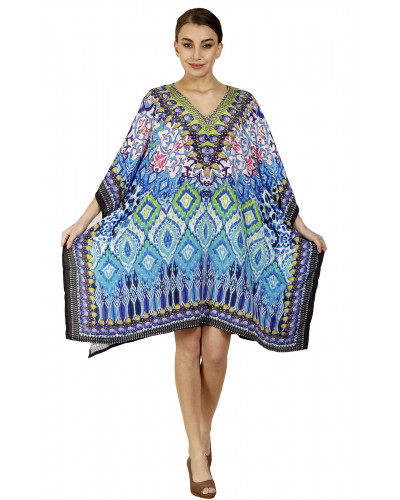 Lot of 04 Digital Printed Swimwear Cover up Bikini Poncho