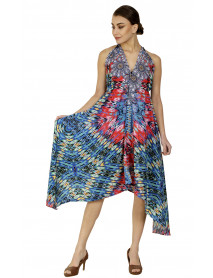 Long Halter Digital Printed Beach Dress - Pack of 05 Pcs