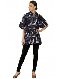 05 Women Beach Button Down Shirt