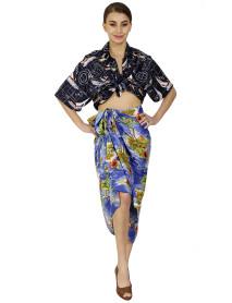 10 Women Printed Beachwear Pareo Bikini Coverups