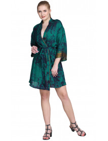 05 Wevez Silk Tie Dye Women Robe