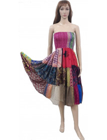 Pack of 05 Patch work Flare Dresses