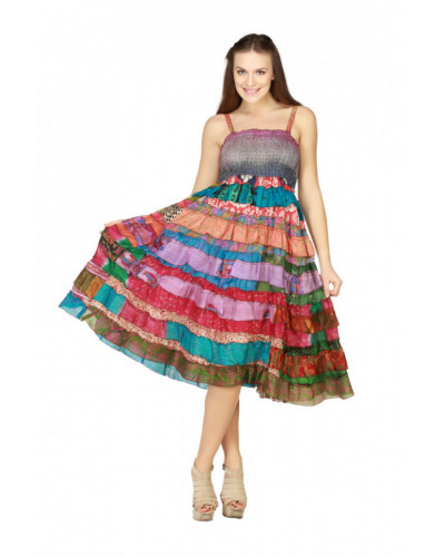 Women Multicolor Frock and Frill Dress - Wholesale Pack of 05