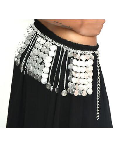 Fringe belly dance metal belt
