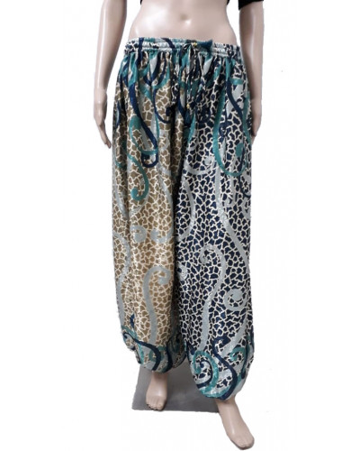 10 Pcs Printed Harem Pants with elastic waist