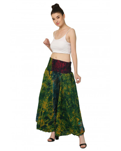 05 Silk Palazzo Ankle Pants for Women