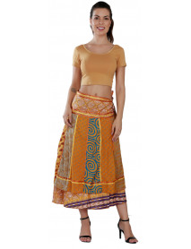05 Brazilian Wrap Around Art Silk Skirts