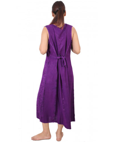 05 Ladies Front Button Down Dresses with Adjustable Waist