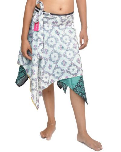 05 Pcs Lot of 24 inch Diamond Cut Sari Skirt